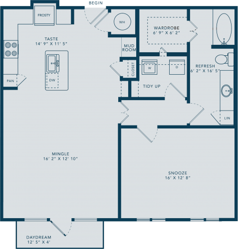 996 sq. ft. A10 floor plan