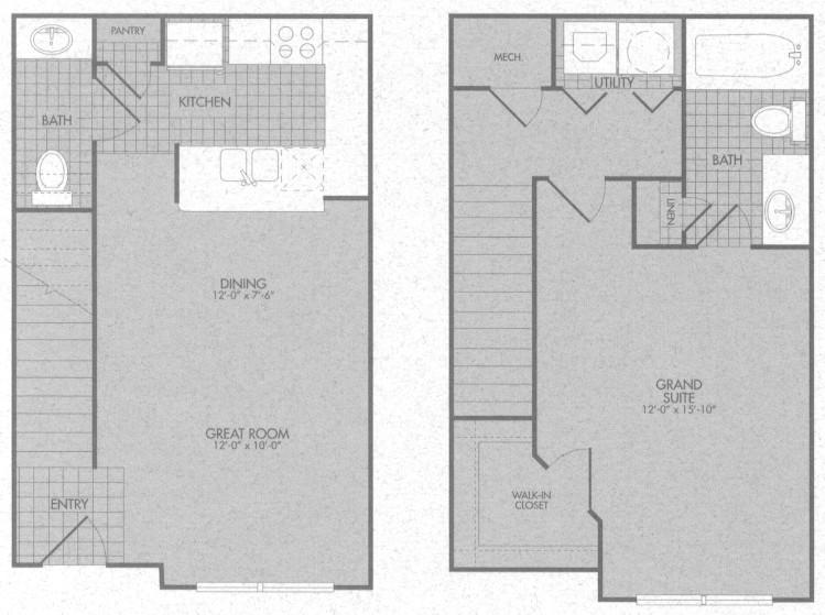 809 sq. ft. Beckley 50% floor plan