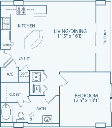 813 sq. ft. to 948 sq. ft. A9 floor plan