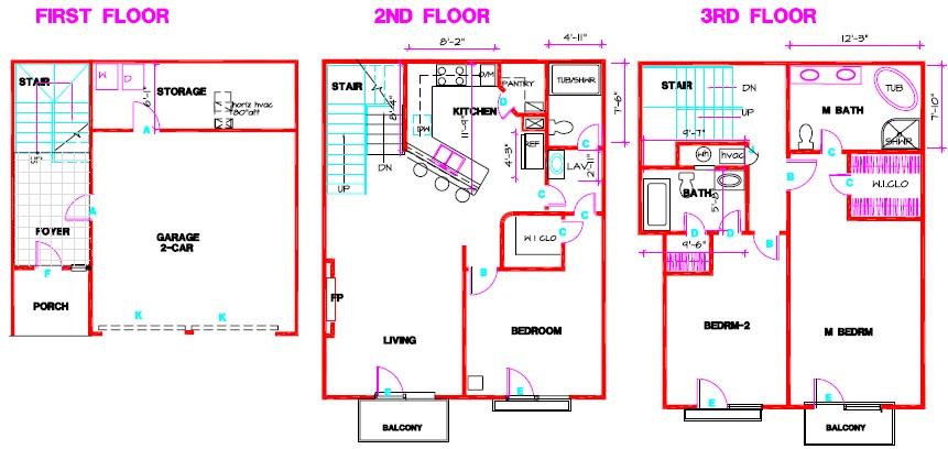 1,406 sq. ft. A floor plan