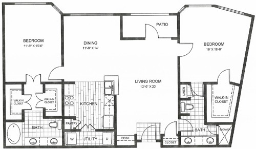 1,224 sq. ft. to 1,341 sq. ft. REPUBLIC floor plan
