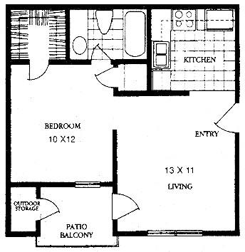 489 sq. ft. NEW BEGINNINGS floor plan