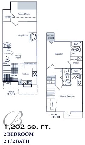 1,202 sq. ft. floor plan