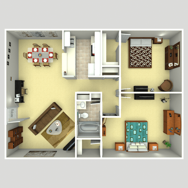 1,069 sq. ft. floor plan