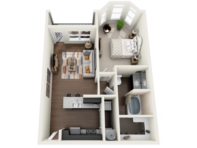 775 sq. ft. to 779 sq. ft. A floor plan