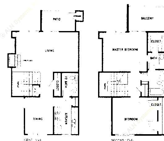 1,260 sq. ft. B3 ABP floor plan