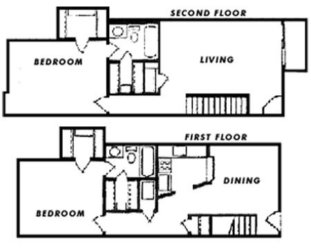 1,259 sq. ft. E floor plan