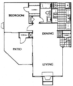 785 sq. ft. Bristol floor plan