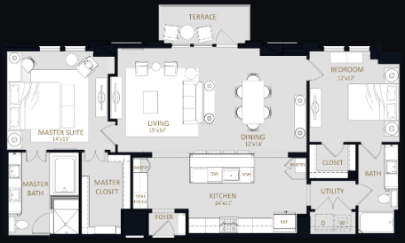 1,469 sq. ft. B7 floor plan