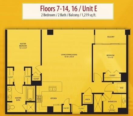 1,551 sq. ft. G floor plan