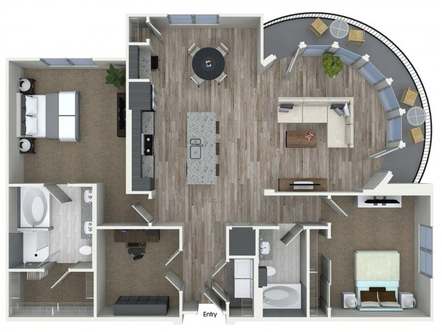 1,489 sq. ft. B9D floor plan