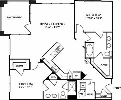 1,244 sq. ft. Key Largo floor plan