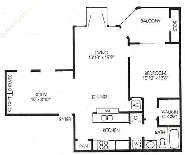 818 sq. ft. Magnolia - New floor plan
