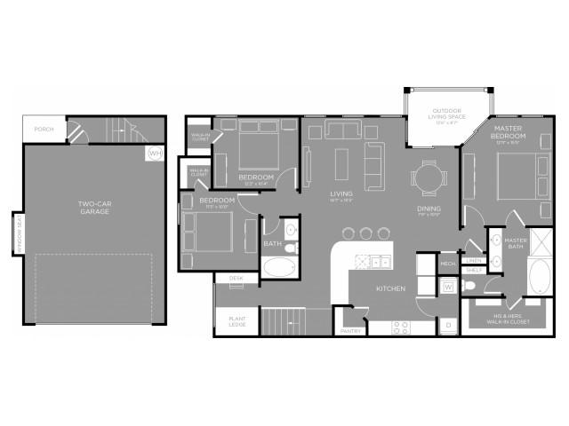 1,579 sq. ft. Sage floor plan