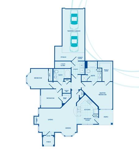 1,365 sq. ft. Wellington -GAR floor plan
