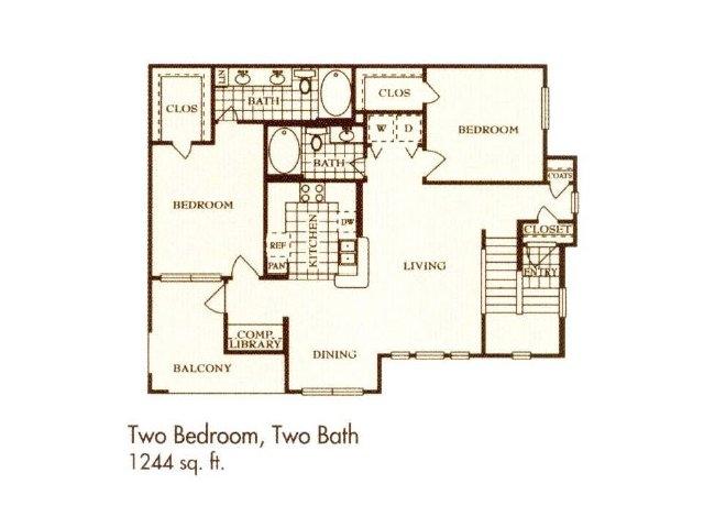 1,244 sq. ft. B7 floor plan
