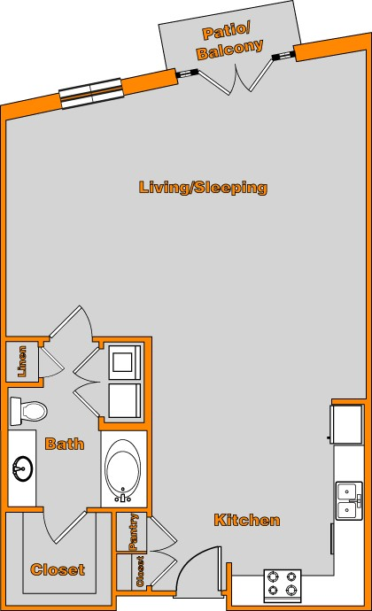 861 sq. ft. LOFT 5 floor plan