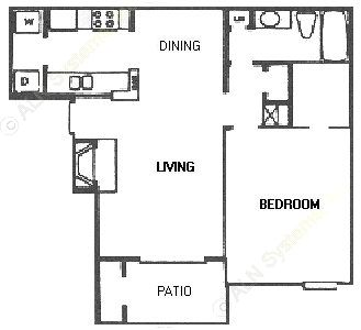 689 sq. ft. C21/C2R floor plan