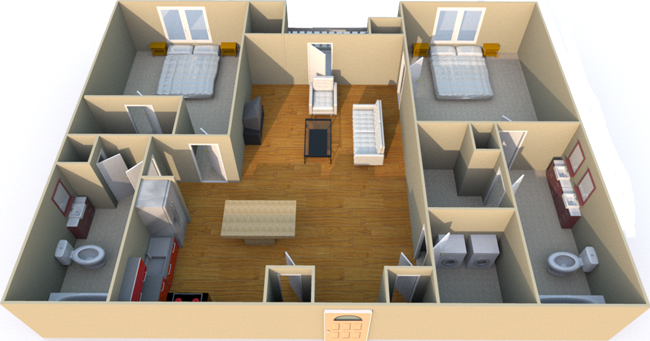 1,151 sq. ft. C1S floor plan