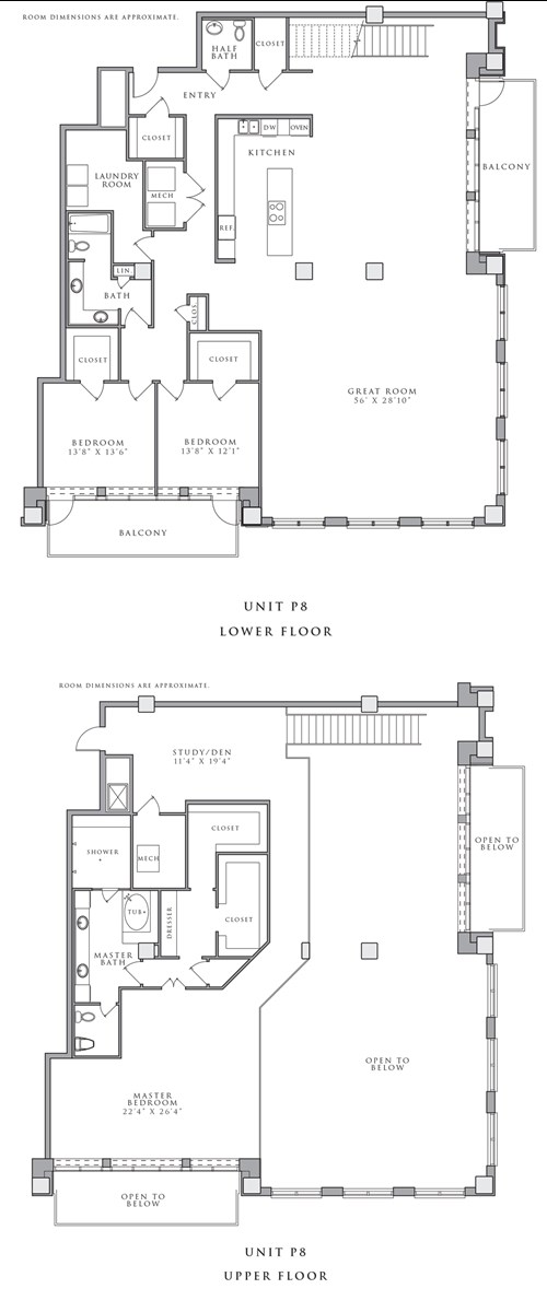 4,450 sq. ft. P8 floor plan