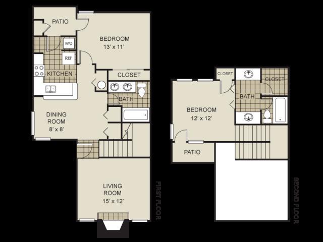 1,000 sq. ft. B4-B floor plan