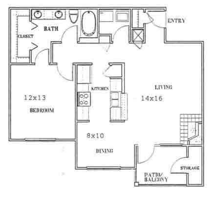 840 sq. ft. to 920 sq. ft. C floor plan