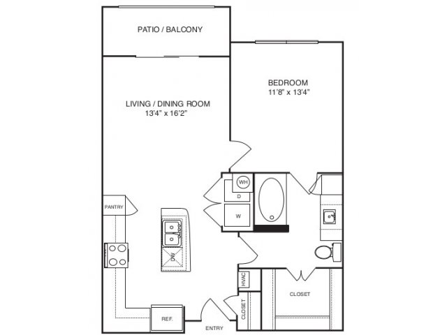 727 sq. ft. A2 ansi floor plan