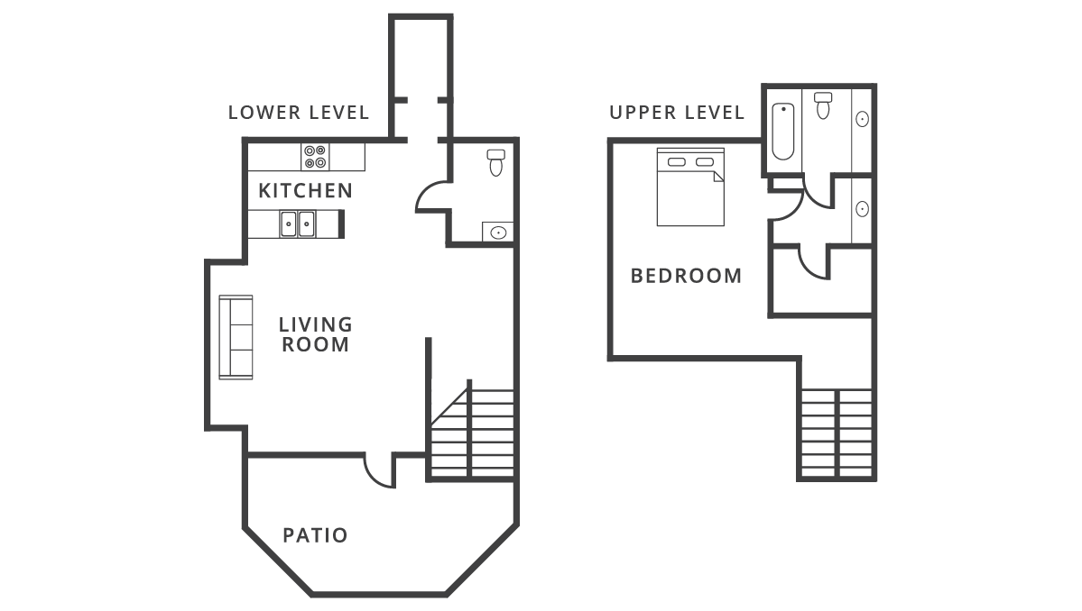 795 sq. ft. Palermo floor plan
