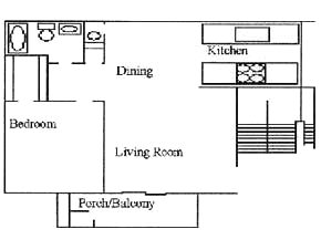 608 sq. ft. floor plan