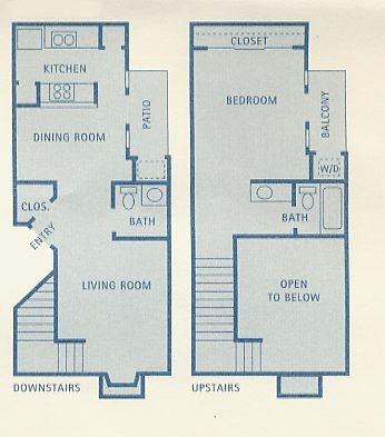 809 sq. ft. Phoenix floor plan