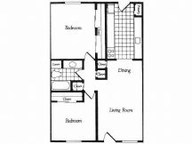 900 sq. ft. C floor plan