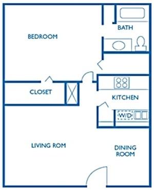768 sq. ft. Thames floor plan