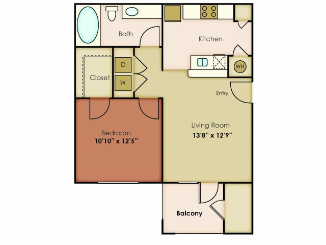 630 sq. ft. ESSENCE floor plan