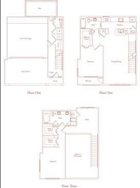 1,739 sq. ft. SALAMANCA THREE floor plan
