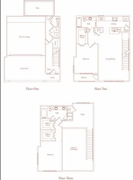 1,739 sq. ft. Salmanca Three floor plan
