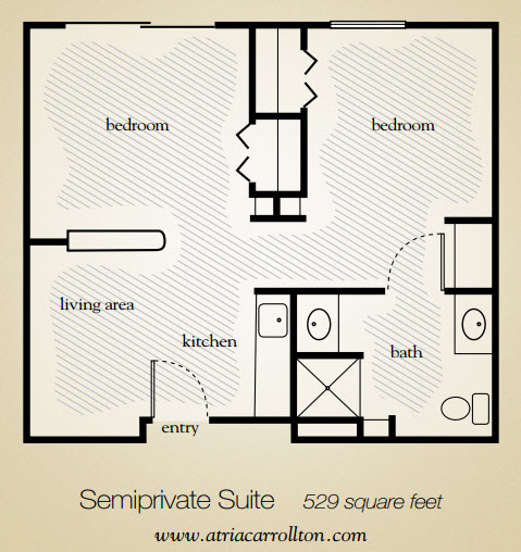 529 sq. ft. floor plan