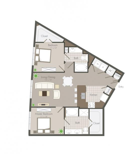 1,189 sq. ft. Malone floor plan