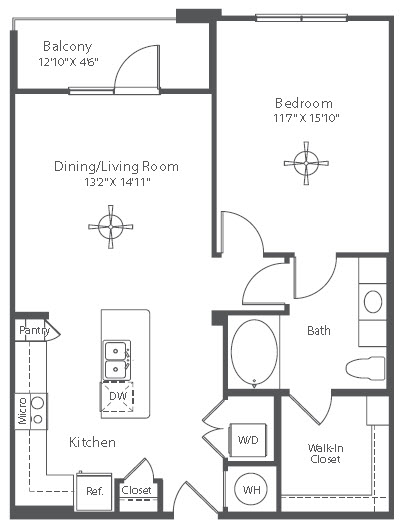 789 sq. ft. to 817 sq. ft. A9 floor plan