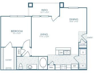 813 sq. ft. Marshal floor plan