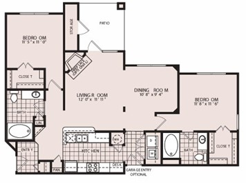 1,270 sq. ft. Kensington-B3S/B3AS floor plan