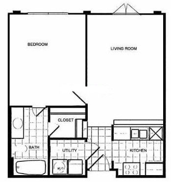 484 sq. ft. floor plan