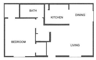 707 sq. ft. floor plan