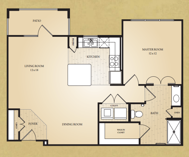 865 sq. ft. Blanco floor plan