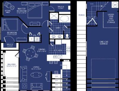 1,177 sq. ft. Callisto floor plan