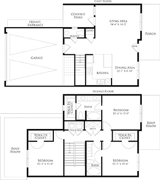 1,513 sq. ft. 6THC1GG floor plan