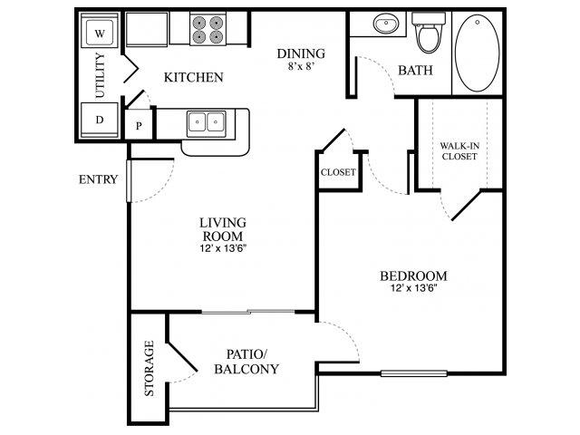656 sq. ft. A floor plan