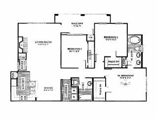 1,436 sq. ft. C4 floor plan