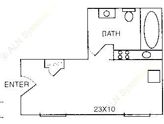 435 sq. ft. EFF floor plan