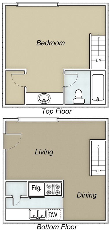 700 sq. ft. Jenkins/60% floor plan