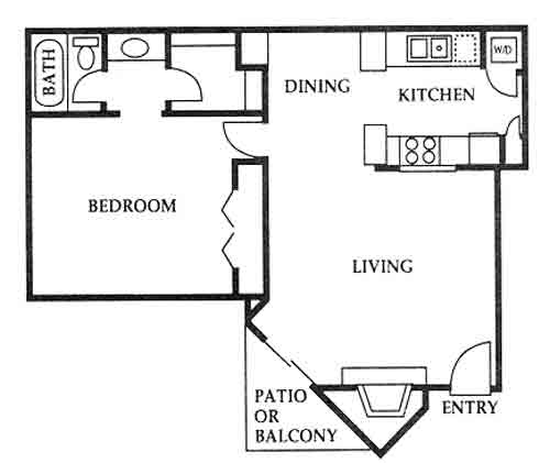 727 sq. ft. F floor plan